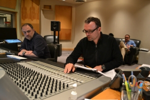 Henry Jackman works the controlboard.