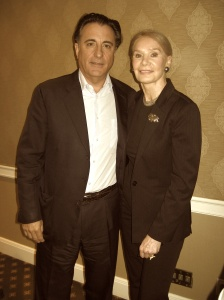 Andy Garcia and L A Features reporter Alice O'Neill